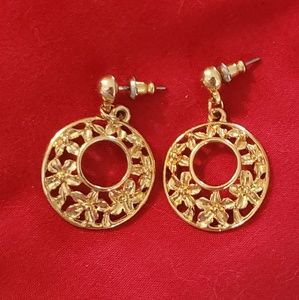 New gold colored earrings for pierced ears
